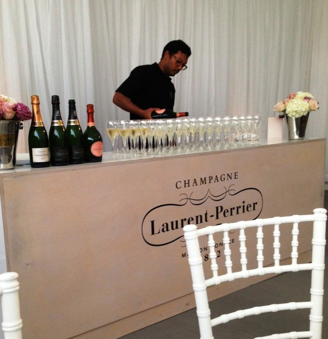 The Laurent Perrier pouring in action!
